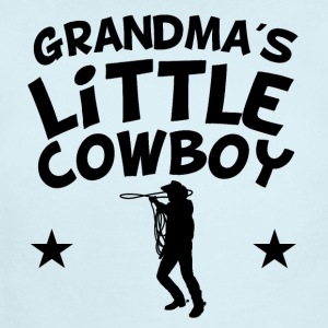 Grandma's Little Cowboy - Short Sleeve Baby Bodysuit