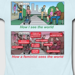 How a feminist sees the world - Short Sleeve Baby Bodysuit