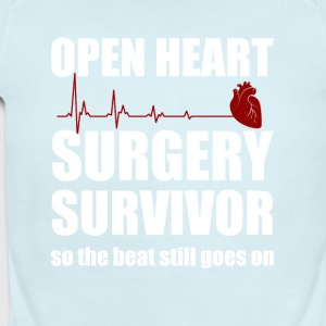 openheart surgery survivor - Short Sleeve Baby Bodysuit