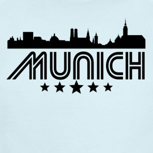 Retro Munich Skyline - Short Sleeve Baby Bodysuit
