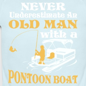Old Man With A Pontoon Boat T Shirt - Short Sleeve Baby Bodysuit