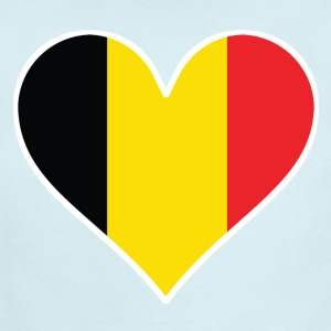 Belgian Flag Heart - Short Sleeve Baby Bodysuit
