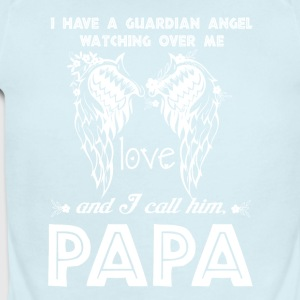 A Guardian Angel Watching Over Me Papa T Shirt - Short Sleeve Baby Bodysuit