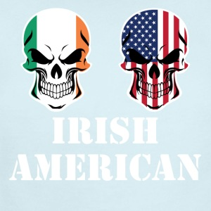 Irish American Flag Skulls - Short Sleeve Baby Bodysuit