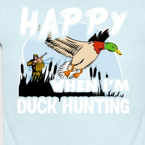 Happy When Duck Hunting Shirt - Short Sleeve Baby Bodysuit