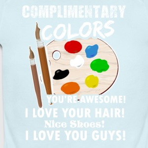 Complimentary Colors Artist Artsy Graphic Shirt - Short Sleeve Baby Bodysuit