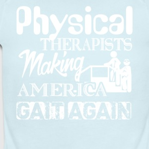 America Gait Again Funny Physical Therapist Shirt - Short Sleeve Baby Bodysuit