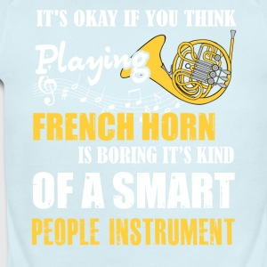 French Horn Is Boring Instrument T Shirt - Short Sleeve Baby Bodysuit