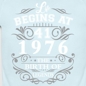 Life begins at 41 1976 The birth of legends - Short Sleeve Baby Bodysuit