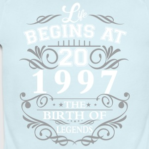 Life begins at 20 1997 The birth of legends - Short Sleeve Baby Bodysuit