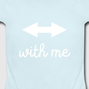 With Me - Short Sleeve Baby Bodysuit