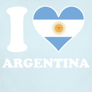 I Love Argentina Argentinian Flag Heart - Short Sleeve Baby Bodysuit