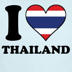 I Love Thailand Thai Flag Heart - Short Sleeve Baby Bodysuit