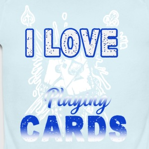 I Love Playing Cards Shirt - Short Sleeve Baby Bodysuit