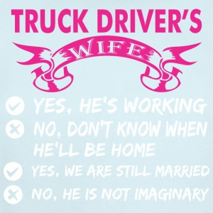 Truck Drivers Wife Yes Hes Working - Short Sleeve Baby Bodysuit