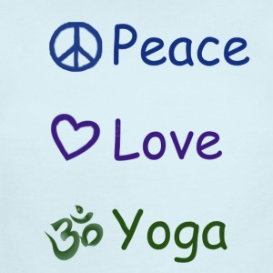 Peace Love Yoga - Short Sleeve Baby Bodysuit