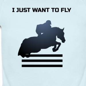 WANT TO FLY - Short Sleeve Baby Bodysuit