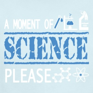 A Moment of Science, Please - Science Not Slience - Short Sleeve Baby Bodysuit