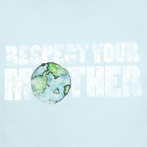 Respect your mother earth vintage earth day - Short Sleeve Baby Bodysuit