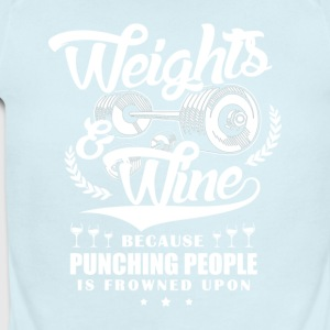 Weights And Wine - Short Sleeve Baby Bodysuit