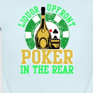 Liquor Upfront Poker in the Rear - Short Sleeve Baby Bodysuit