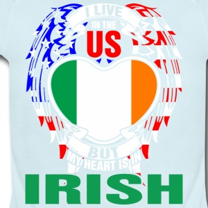 I Live In The Us But My Heart Is In Irish - Short Sleeve Baby Bodysuit
