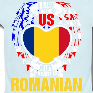 I Live In The Us But My Heart Is In Romanian - Short Sleeve Baby Bodysuit