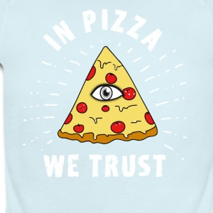 pizza illuminati Eye Pyramide Humor fun fastfood - Short Sleeve Baby Bodysuit