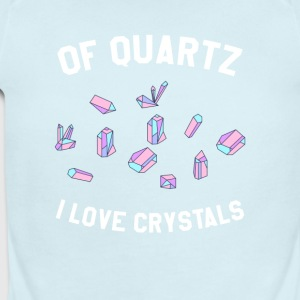 Of Quartz I Love Crystals - Short Sleeve Baby Bodysuit