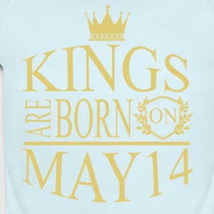 Kings are born on May 14 - Short Sleeve Baby Bodysuit