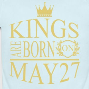 Kings are born on May 27 - Short Sleeve Baby Bodysuit