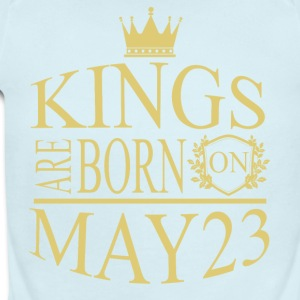 Kings are born on May 23 - Short Sleeve Baby Bodysuit