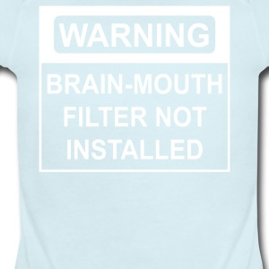 Brain Mouth Filter Not Installed - Short Sleeve Baby Bodysuit