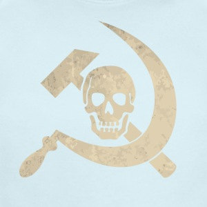 Cool golden skull with hammer and sickle - Short Sleeve Baby Bodysuit
