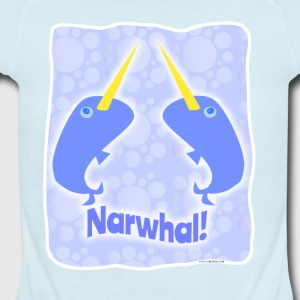 Double Narwhal Duel - Short Sleeve Baby Bodysuit