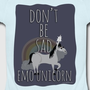The Sad Emo Unicorn - Short Sleeve Baby Bodysuit