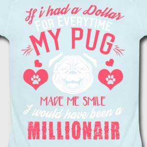 pug - Short Sleeve Baby Bodysuit