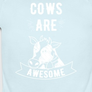 Cows are awesome - Short Sleeve Baby Bodysuit