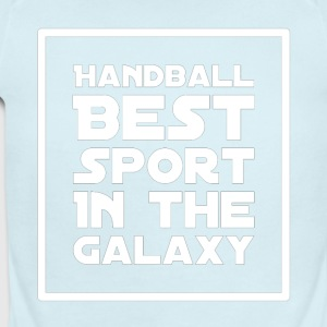 Handball Best sport in the galaxy - Short Sleeve Baby Bodysuit