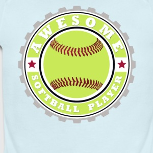 Symbol of an Awesome Softball Player - Short Sleeve Baby Bodysuit