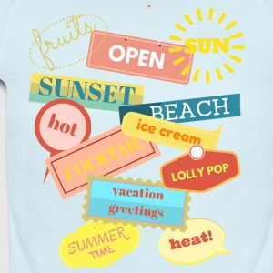 summer Time T-Shirt - Short Sleeve Baby Bodysuit