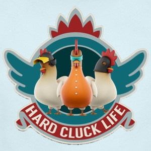 Hard Cluck Life - Short Sleeve Baby Bodysuit