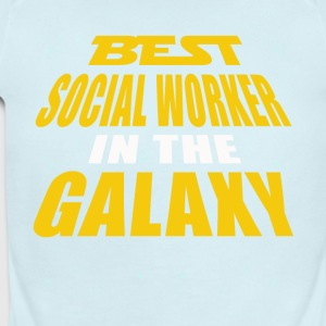 Best Social Worker In The Galaxy - Short Sleeve Baby Bodysuit