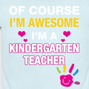 I'm a kindergarten teacher - Short Sleeve Baby Bodysuit