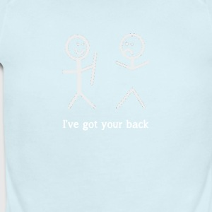 I've Got Your Back Funny Stick Figure T-Shirt - Short Sleeve Baby Bodysuit
