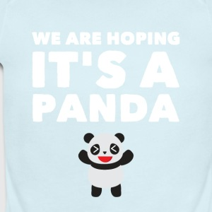 we are hoping it's a panda - Short Sleeve Baby Bodysuit