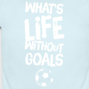 what's life without goals - Short Sleeve Baby Bodysuit