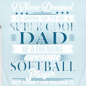 Super Cool Softball Dad - Short Sleeve Baby Bodysuit