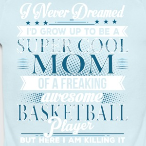Super Cool Basketball Mom - Short Sleeve Baby Bodysuit