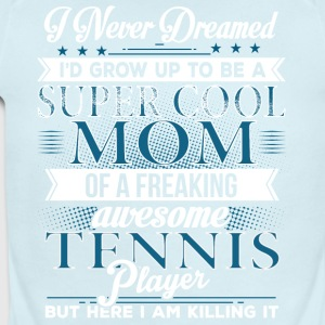 Super Cool Tennis Mom - Short Sleeve Baby Bodysuit
